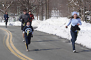 Middletown, NY - Runners compete in the Orange Runners Club Winter Series race on Feb. 24, 2008.