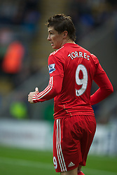 BOLTON, ENGLAND - Sunday, October 31, 2010: Liverpool's Fernando Torres in action against Bolton Wanderers during the Premiership match at the Reebok Stadium. (Pic by: David Rawcliffe/Propaganda)