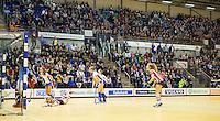 NK Zaalhockey -  overzicht  met volle tribunes van een zaal in  Topsportcentrum Rotterdam.   foto KNHB / KOEN SUYK