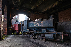 Old steam locomotive at the National Mining Museum at Newtongrange in Scotland, United Kingdom.