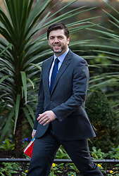 © Licensed to London News Pictures. 23/02/2016. London, UK. Secretary of State for Wales STEPHEN CRABB arrives at number 10 Downing Street in Westminster, London for cabinet meeting. Photo credit: Ben Cawthra/LNP