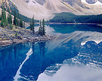 Reflections on Moraine Lake, Banff National Park Alberta Canada