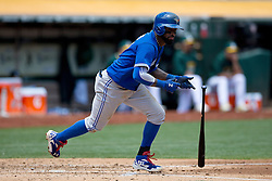 OAKLAND, CA - JULY 23:  Jose Reyes #7 of the Toronto Blue Jays at bat against the Oakland Athletics during the third inning at O.co Coliseum on July 23, 2015 in Oakland, California. The Toronto Blue Jays defeated the Oakland Athletics 5-2. (Photo by Jason O. Watson/Getty Images) *** Local Caption *** Jose Reyes