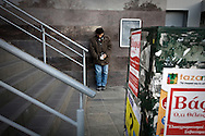 Greece, February 2013 - A man is begging just outside Perissos train station in Athens. According to the Greek Statistical Authority, unemployment in Greece in the first quarter of 2013 is 27,4% while the highest unemployment rate occurs among young people aged 15 - 24 years old (60.0%).