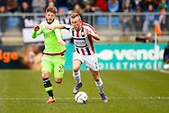 06-03-2016 VOETBAL:WILLEM II-AJAX:TILBURG <br /> Lasse Schone van Ajax in duel met  Dico Koppers van Willem II <br /> <br /> Foto: Geert van Erven