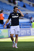 Marcus Antonsson of Leeds United before the EFL Sky Bet Championship match between Cardiff City and Leeds United at the Cardiff City Stadium, Cardiff, Wales on 17 September 2016. Photo by Andrew Lewis.