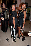 RACHAEL BARRETT; TOLULA AYEDEMI, Dazed & Confused 20th Anniversary Exhibition. Somerset House. London. 3 November 2011<br /> <br />  , -DO NOT ARCHIVE-© Copyright Photograph by Dafydd Jones. 248 Clapham Rd. London SW9 0PZ. Tel 0207 820 0771. www.dafjones.com.