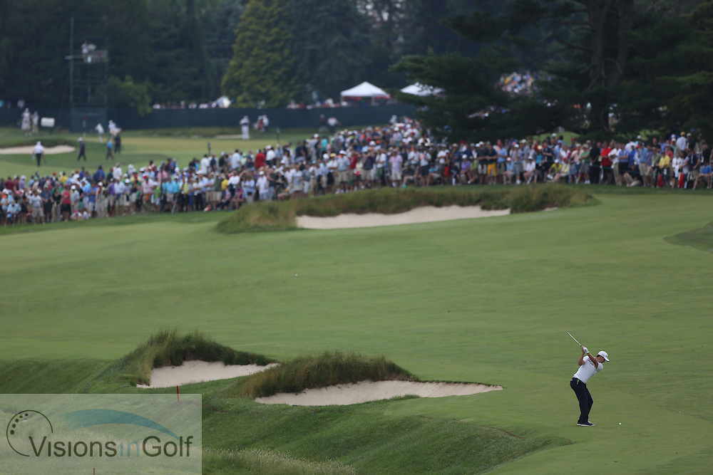 Scenic view<br /> on the first day at the US Open Championship, Merion East, PA. USA 2013 <br /> Picture Credit:  Mark Newcombe / visionsingolf.com