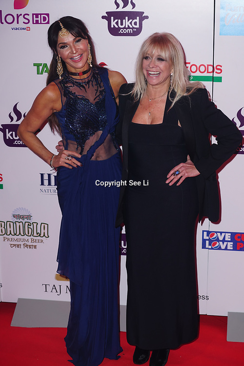 Battersea Evolution London, England, UK, 27th November 2017. Lizzie Cundy, Jo Wood attend the British Curry Awards, London, UK.