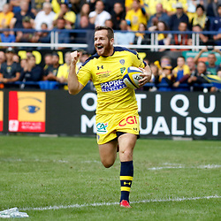 Camille Lopez of Clermont scores during Top 14 match between Clermont and Agen on August 25, 2018 in Perpignan, France. (Photo by Romain Biard/Icon Sport)