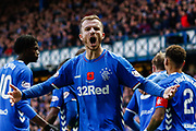 Andy Halliday of Rangers roars to the crowd during the Ladbrokes Scottish Premiership match between Rangers and Motherwell at Ibrox, Glasgow, Scotland on Sunday 11th November 2018.