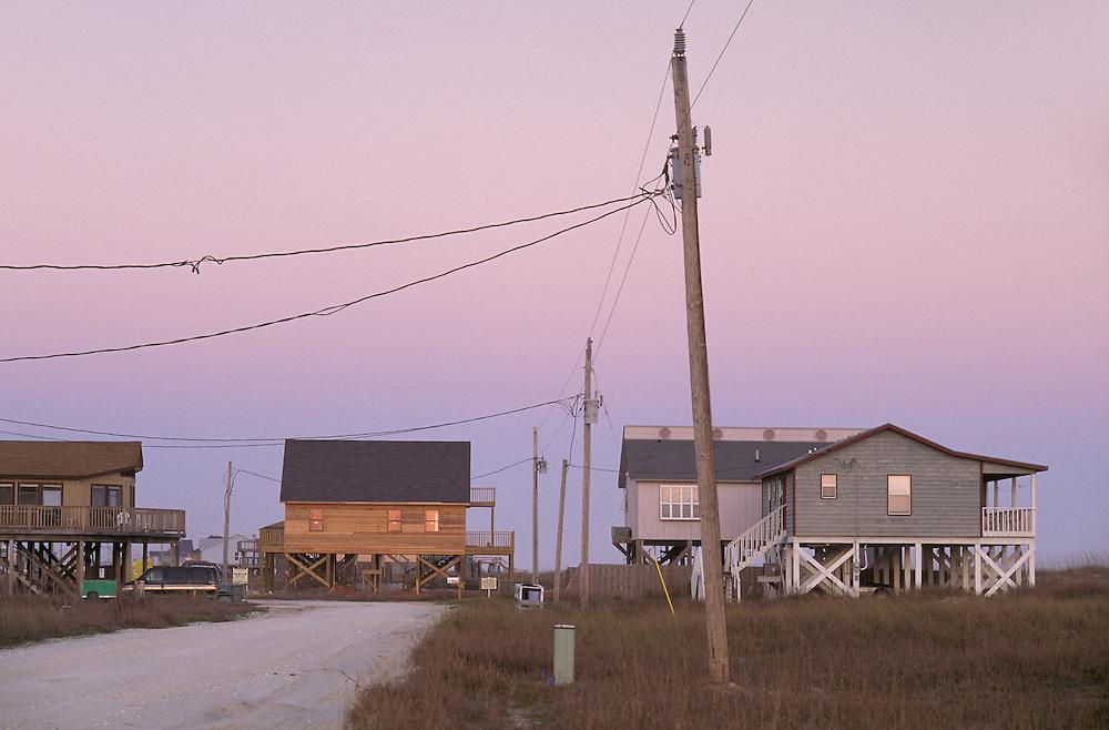 Beach Houses on Gulf Coast, Fort Morgan, Alabama, USA