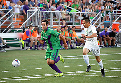 07 May 2016. New Orleans, Louisiana.<br /> NPSL Soccer, Pan American Stadium.<br /> New Orleans Jesters v Houston Hurricanes. Jesters win 3-0. <br /> Photo; Charlie Varley/varleypix.com