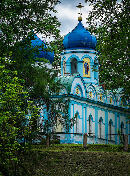 LATVIA, CESIS - CIRCA JUNE 2014: Christ Transfiguration Orthodox Church located in the Cesis Castle Park in Latvia