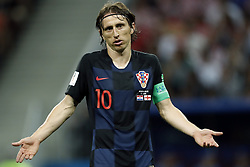 Luka Modric of Croatia during the 2018 FIFA World Cup Russia Semi Final match between Croatia and England at the Luzhniki Stadium on July 01, 2018 in Moscow, Russia