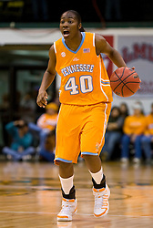 December 22, 2009; San Francisco, CA, USA;  Tennessee Lady Volunteers guard/forward Shekinna Stricklen (40) during the first half against the San Francisco Dons at War Memorial Gym.  Tennessee defeated San Francisco 89-34.