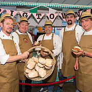 01/09/2017<br /> <br /> Pictured enjoying the Limerick Urban Food Fest, the opening event of the Pigtown Food &amp; Culture Series at the Milk Market, Limerick, are, from left, John Patterson, Stefan Lundstrom, Tom Flavin, Jim Kordon, and Dave Ryan, from the Limerick Strand Hotel.<br /> Picture: Diarmuid Greene/Alan Place Photography