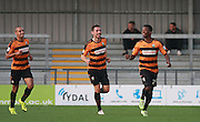 Barnet striker Josh Clarke celebrates after opening the scoring during the Sky Bet League 2 match between Barnet and Exeter City at The Hive Stadium, London, England on 31 October 2015. Photo by Bennett Dean.
