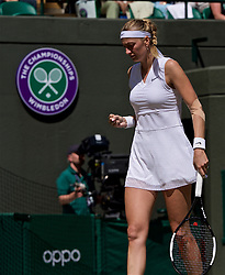 LONDON, ENGLAND - Thursday, July 4, 2019: Petra Kvitova (CZE) during the Ladies' Singles second round match on Day Four of The Championships Wimbledon 2019 at the All England Lawn Tennis and Croquet Club. Kvitova won 7-5, 6-2. (Pic by Kirsten Holst/Propaganda)