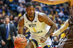 Dec 30, 2018; Morgantown, WV, USA; West Virginia Mountaineers forward Derek Culver (1) drives down the lane during the second half against the Lehigh Mountain Hawks at WVU Coliseum. Mandatory Credit: Ben Queen-USA TODAY Sports