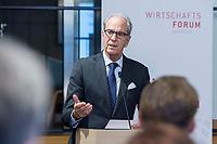 29 MAR 2017, BERLIN/GERMANY:<br /> Dr. Juergen Heraeus, Praesident B20, Vorsitzender von UNICEF Deutschland, Aufsichtsratsvorsitzender der Firma Heraeus, haelt eine Rede, Veranstaltung des Wirtschaftsforums der SPD und der Business 20, B20: &quot;Global Governance in Zeiten der Globalisierungsskepsis - Impulse aus der G20-Wirtschaft&quot;, Quartier Zukunft der Deutschen Bank<br /> IMAGE: 20170329-02-104<br /> KEYWORDS: Dr. J&uuml;rgen Heraeus