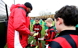 Mark Little of Bristol City signs autographs for children during The BCCT EFL Kids Cup - Mandatory by-line: Robbie Stephenson/JMP - 23/11/2016 - FOOTBALL - South Bristol Sports Centre - Bristol, England - BCCT EFL Kids Cup