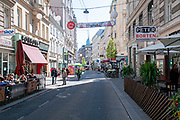 Neubaugasse street in district 7, Vienna, Austria