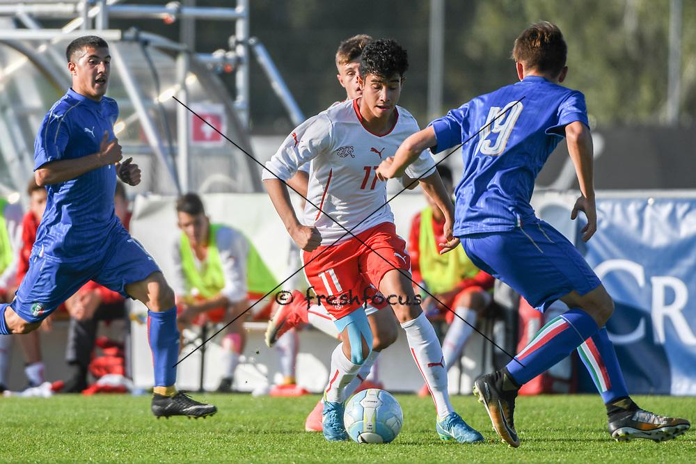 21.09.2017; Niederhasli; FUSSBALL U16 - Schweiz - Italien;<br /> Willy Vogt (SUI) <br /> (Andy Mueller/freshfocus)