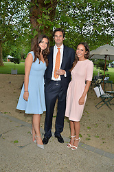 Left to right, MR RUPERT & LADY NATASHA FINCH and LAVINIA BRENNAN at a dinner hosted by Cartier in celebration of The Chelsea Flower Show held at The Hurligham Club, London on 19th May 2014.