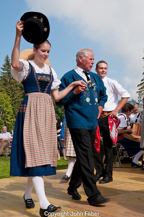 Trachtengruppe Weggis am 1.Augustfeier in Rigi Kaltbad