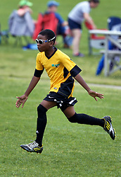 30 April 2016. Memphis, Tennessee. <br /> The Adidas Premier Invitational hosted by the Mike Rose Soccer Complex. <br /> New Orleans Jesters Youth Academy U10 Green v Southwest Jackson Blaze (MS)<br /> Jesters lose 2-5.<br /> Photo©; Charlie Varley/varleypix.com