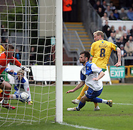Bristol - Saturday May 1st, 2010: Stephen Hughes of Norwich City scores his side's third goal during the Coca Cola League One match at The Memorial Stadium, Bristol. (Pic by Mark Chapman/Focus Images)..
