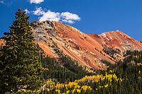12,592 ft. Red Mountain #1 of the SanJuan Mountains on Red Mountain Pass, Colorado.