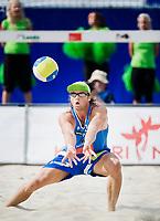 29. Juni 2009 , VM Sandvolleyball , beachvolleyball , stavanger , Norge - USA , Iver Andreas Horrem , Norge , Foto: Tommy Ellingsen
