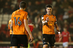 Danny Batth of Wolverhampton Wanderers gives instructions to Conor Coady  - Mandatory by-line: Matt McNulty/JMP - 31/01/2017 - FOOTBALL - Oakwell Stadium - Barnsley, England - Barnsley v Wolverhampton Wanderers - Sky Bet Championship