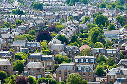 Large  villas in upmarket Morningside district of Edinburgh, Scotland, UK