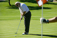 Man Putting on Golf Course