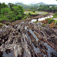 View from Bridge along the Ring of Kerry in Sneem, Ireland <br />