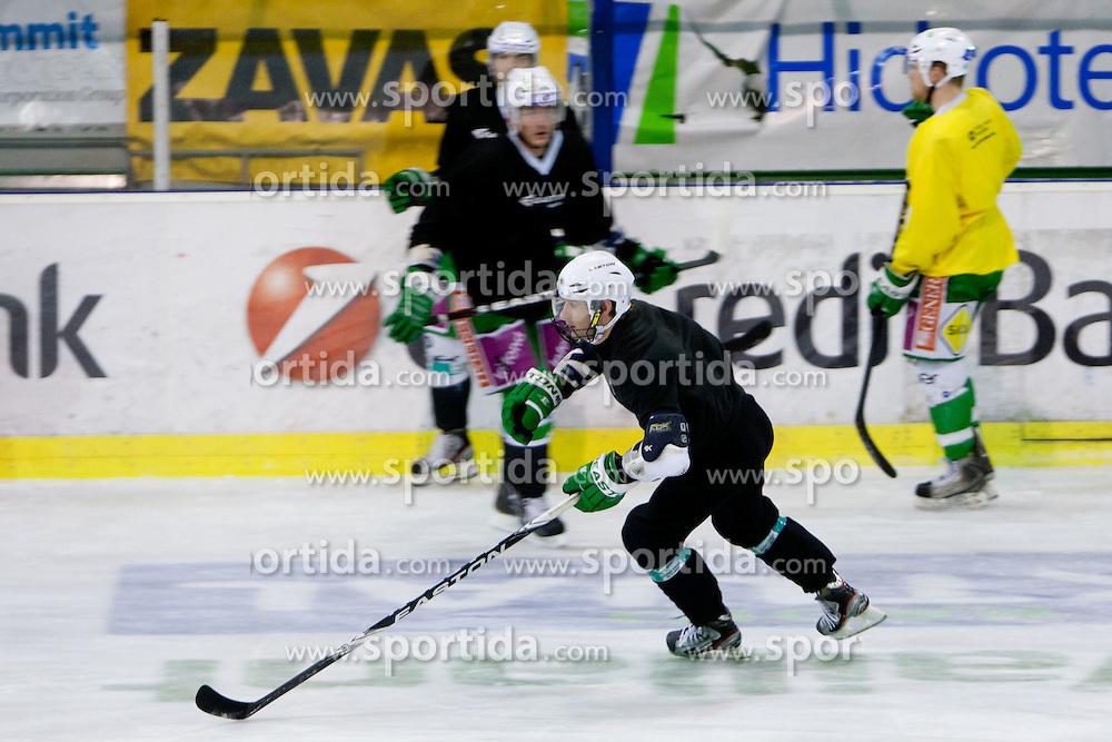Matej Hocevar of HDD Tilia Olimpija during ice-hockey practice of HDD Tilia Olimpija, on Februar 21, 2012 at Hala Tivoli, Ljubljana, Slovenia. (Photo By Matic Klansek Velej / Sportida)