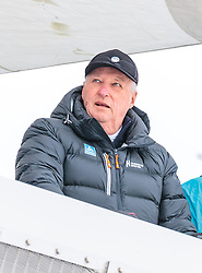 10.03.2018, Holmenkollen, Oslo, NOR, FIS Weltcup Nordische Kombination, Oslo, Skisprung, im Bild Harald V. Koenig von Norwegen // Harald V. King of Norway during the Skijumping of the FIS Nordic Combined World Cup at the Holmenkollen in Oslo, Norway on 2018/03/10. EXPA Pictures © 2018, PhotoCredit: EXPA/ JFK