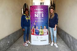 MYRIAM SYLLA E CRISTINA CHIRICHELLA<br /> CONFERENZA LEGA VOLLEY FEMMINILE SQUADRE ITALIANE PROTAGONISTE IN EUROPA<br /> FOTO FILIPPO RUBIN / LVF