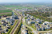 Nederland, Noord-Holland, Hoofddorp, 09-04-2014; kantorenpark Beukenhorst en station Hoofddorp.<br /> Office park Beukenhorst and railway station.<br /> luchtfoto (toeslag op standard tarieven);<br /> aerial photo (additional fee required);<br /> copyright foto/photo Siebe Swart