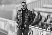 Forest Green Rovers manager, Mark Cooper during the EFL Sky Bet League 2 match between Mansfield Town and Forest Green Rovers at the One Call Stadium, Mansfield, England on 23 February 2019.