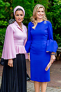 19-5-2017 DEN HAAG -  Koningin Maxima woont de opening bij van het internationale seminar 'Law, Education and the SDG's'. Seminar over bescherming onderwijs in conflictsituaties COPYRIGHT ROBIN UTRECHT<br /> <br /> 19-5-2017 THE HAGUE - Sheikha Moza Bint Nasser<br />  Of Qatar Queen Maxima attends the opening of the international seminar 'Law, Education and the SDGs'. Seminar on education protection in conflict COPYRIGHT ROBIN UTRECHT
