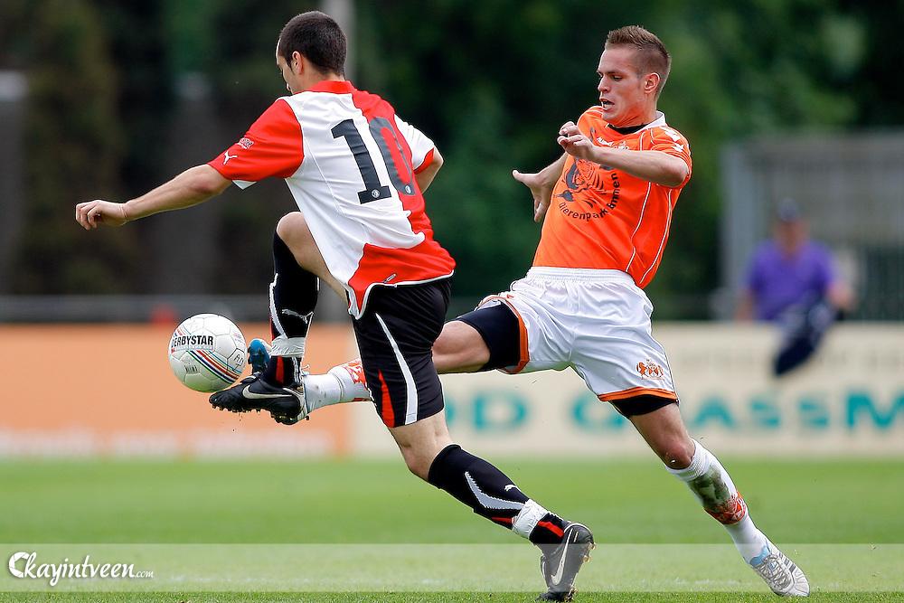 ROTTERDAM - Feyenoord - WKE, Nacompetitie, Seizoen 2010-2011, 05-06-2011, Sportcomplex Varkenoord, Joery Josee (l) en Robin Demeijer (r)