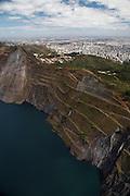 Belo Horizonte_MG, Brasil.<br /> <br /> Mineracao na Serra do Curral em Belo Horizonte, Minas Gerais.. <br /> <br /> Mining at Serra do Curral in Belo Horizonte Minas Gerais.<br /> <br /> Foto: JOAO MARCOS ROSA / NITRO