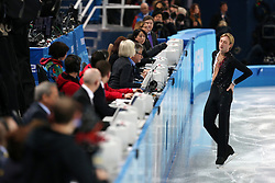 Evgeni Plushenko (Russia) injured during his short program during the men's figure skating competition at the XXII Olympic Winter Games in Sochi.