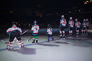 KELOWNA, CANADA - MARCH 14:  Pepsi Players of the Game in the line up at the Kelowna Rockets game on March 14, 2018 at Prospera Place in Kelowna, British Columbia, Canada.  (Photo By Cindy Rogers/Nyasa Photography,  *** Local Caption ***
