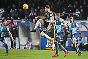 Carlisle United Cole Stockton (23) and Wycombe Wanderers Defender Adam El-Abd (6) battle for the ball during the EFL Sky Bet League 2 match between Wycombe Wanderers and Carlisle United at Adams Park, High Wycombe, England on 3 February 2018. Picture by Stephen Wright.