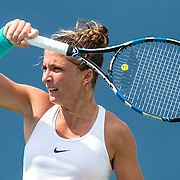 August 21, 2016, New Haven, Connecticut: <br /> Sara Errani of Italy in action during Day 3 of the 2016 Connecticut Open at the Yale University Tennis Center on Sunday, August  21, 2016 in New Haven, Connecticut. <br /> (Photo by Billie Weiss/Connecticut Open)